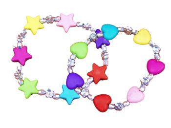 Armband Herz und Stern