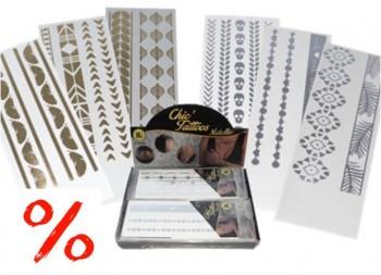 Tattoo-Armband gold/silber