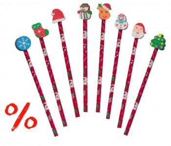 Bleistift mit Radierer-Weihnachtsmotiv