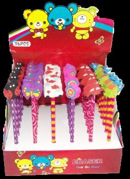 Bleistifte mit Radiergummifiguren