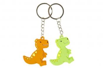 Soft-Dino an Schlüsselkette