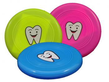 Zahnmotiv-Frisbee