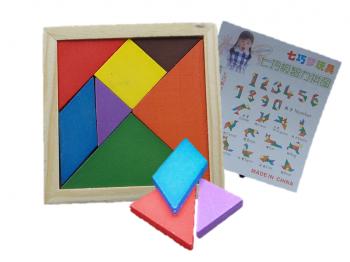 Holzpuzzle Geometrie