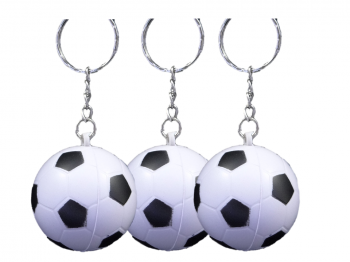 Soft-Fußball weiß an Schlüsselkette