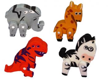3D Tiere als Radierer