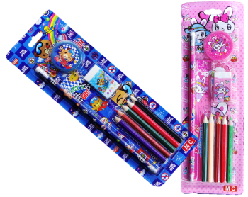 Schreib-Sets rosa-blau