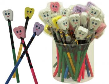 Bleistift mit Zahnradierer