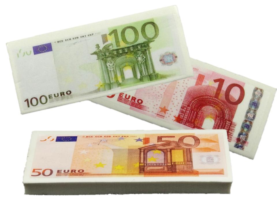 Radiergummi Euro Geldschein Radierer Zugabeartikel Korsches Hits