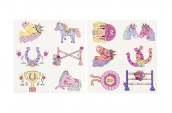 6er Tattoos-Pferdefreunde