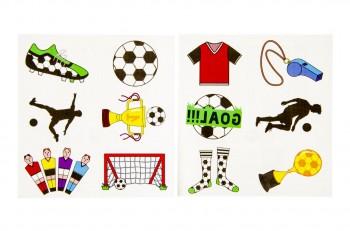 6er Tattoos-Fussballfreunde