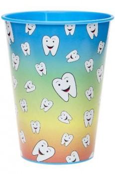 Becher mit lachenden Zähnen
