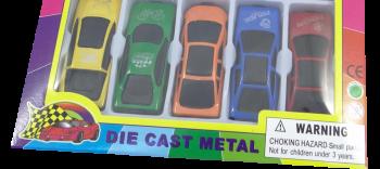 5er Set Autos im Display