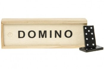 Domino in Holzbox