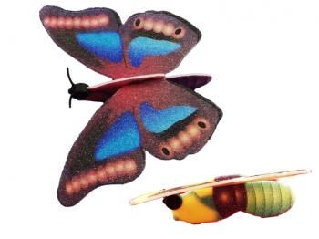 Styropor-Schmetterling