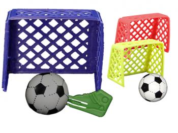 Fussballtor mit Ballabschiesser