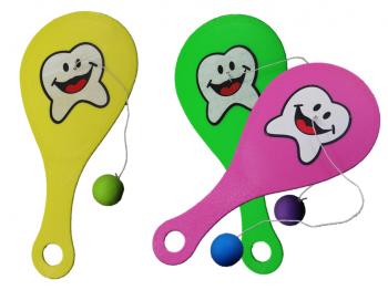 Paddelspiel Zahnmotiv