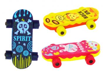 Skateboard als Radierer