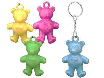 Kleine bunte Bären an Schlüsselkette