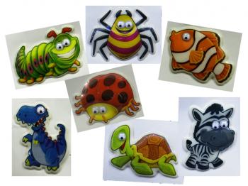 3D Softsticker mit Kulleraugen