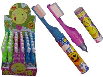 Kugelschreiber Zahnbürste