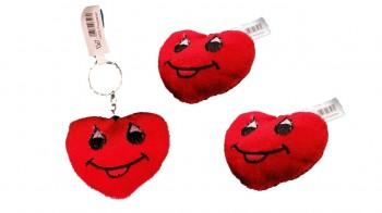 Plüsch-Herz an Schlüsselring