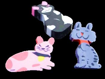 Katzen Radierer
