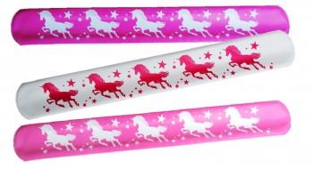 Snap-Armband Einhorn weiß-Pink
