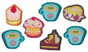 Radierer Dessert und Tasse