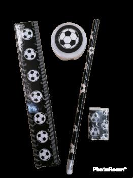 Schreibset Fussball schwarz/weiß