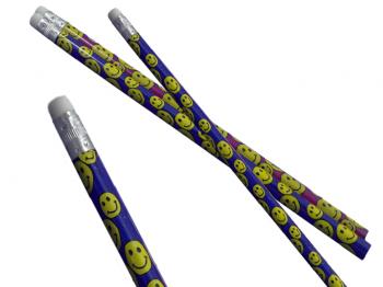 lachende Bleistifte mit Radierer