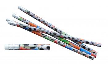 Bleistift mit Radierer Fußball