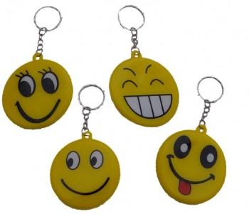 Lustiges gelbes Gesicht an Schlüsselkette