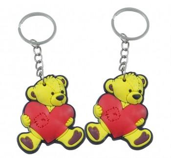 Soft-Bär mit Herz an Schlüsselkette
