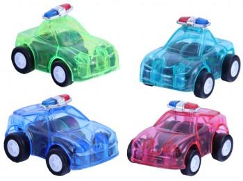 Transparentes Polizeiauto